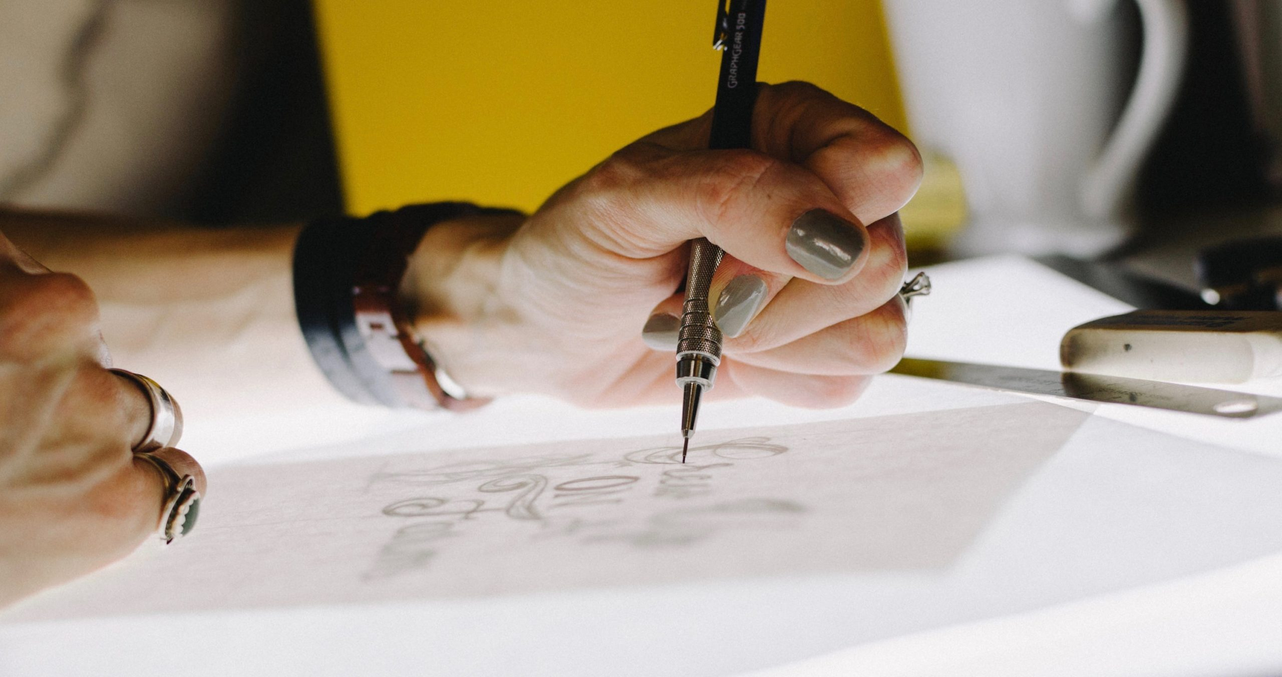 Image of person drawing