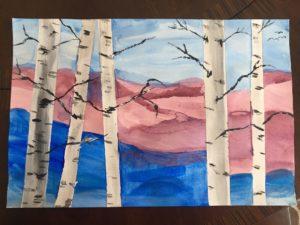 Water Colour Trees by Jennine Rawana