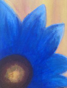 Flower Painting by Parisa Zargham