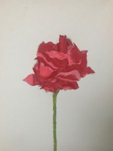 """Rose Painting by Joshua Manabat. Joshua said, """"Speed painting was a fun activity to do to release any stress from school and meet new people."""""""