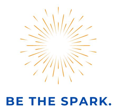 Be the spark logo